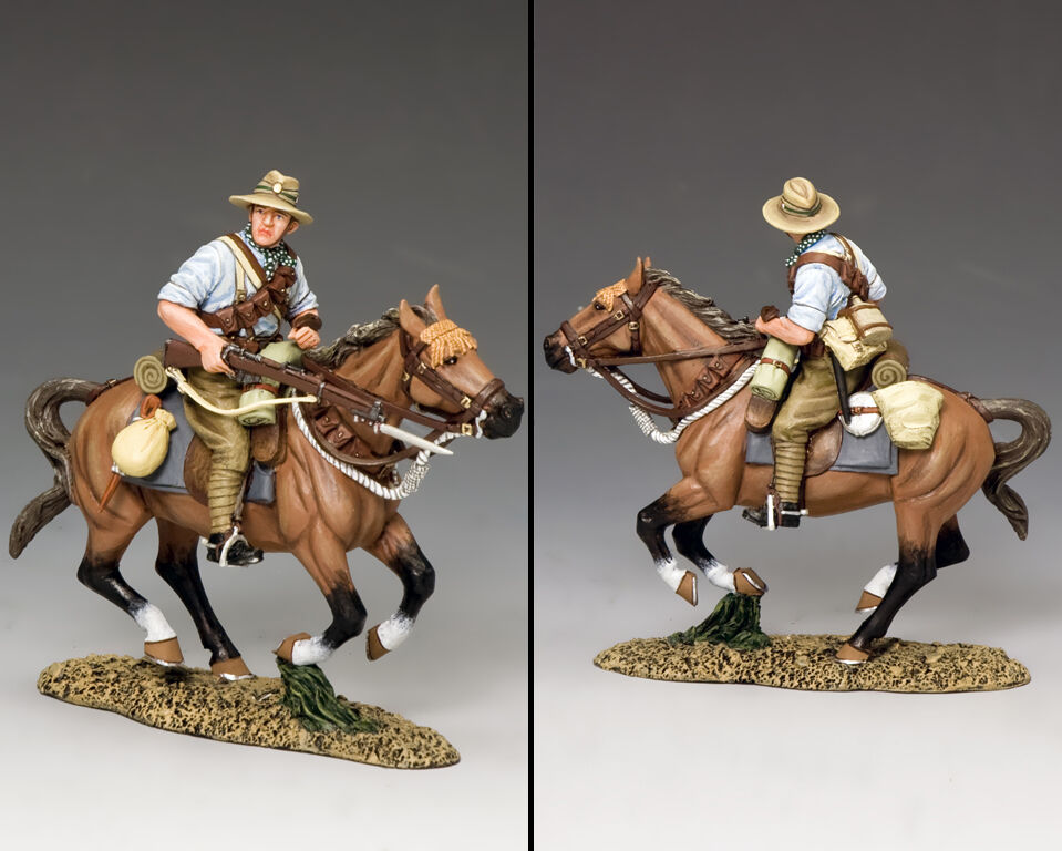 KING AND COUNTRY New Zealand Mounted Kiwi Charging with Rifle AL74 AL074