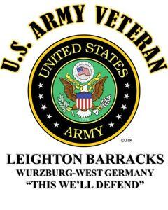 LEIGHTON-BARRACKS-WURZBURG-WEST-GERMANY-ARMY-VETERAN-W-ARMY-EMBLEM-SHIRT