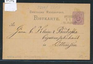 28906) Bahnpost L3 Itzehoe Elmshorn (sans Cours/nr) à Partir Du Rebord 1880-afficher Le Titre D'origine