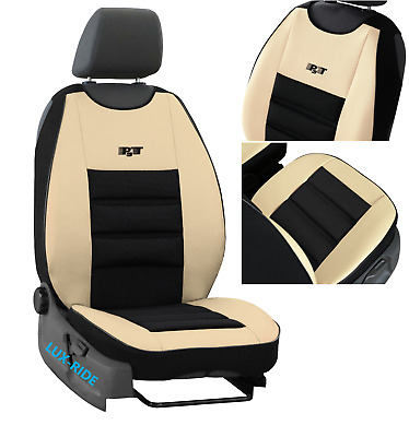 Universal Car Seat Covers Eco Leather /& Fabric fits Ford Kuga Mk2 2012 ONWARDS