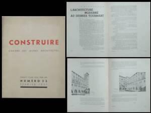 Construire N°32 1937 - Couvent Saint Francois, Paris, 7 Rue Marie Rose, Gelis