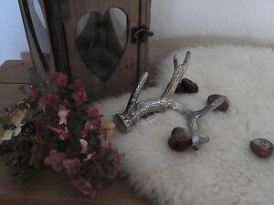 Details Zu Geweih Dekoration Herbst Advent Weihnachten Silber Hirsch Waldtiere Tischdeko