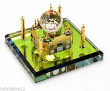 Beautifull Cystal Taj Mehal Show Piece Electro Gold Plated For Home Office ,Gift