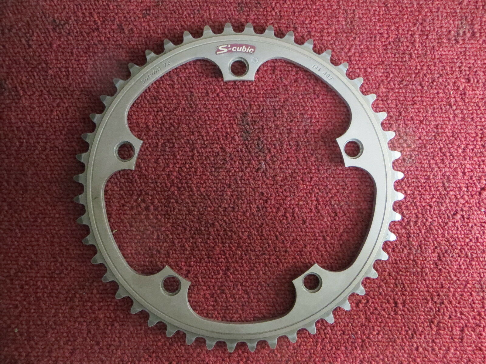 Sugino75 S-cubic 144BCD 1 8  NJS Chainring 50T Matte Finish (19020506)