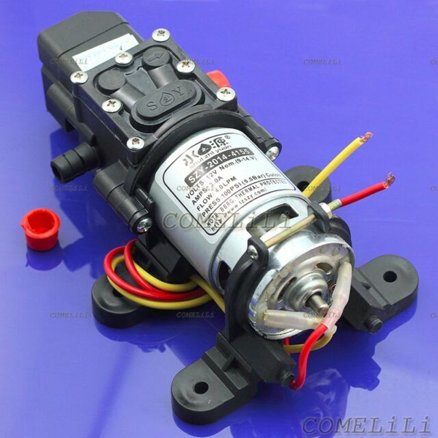 Solid 100PSI DC 12V 4L/Min Electric Diaphragm Water Self Priming Pump for Garden