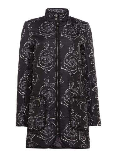 Taglia £ Fantasia 250 Al 10 Jacket Nero 8 Coat leggermente trapuntato Armani Jeans dettaglio Uk gZ0qnR4