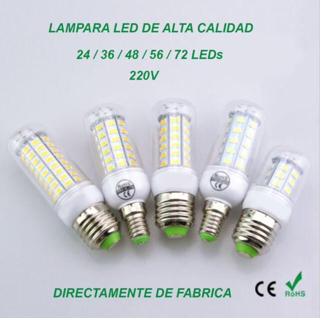 Lámpara Bombilla Foco E27 / E14 - 24/48/56/72 Leds chip Epistar, Alta calidad