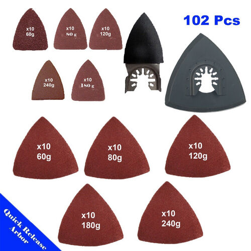 Sanding Paper Set Oscillating MultiTool Porter Cable Rockwell X2 Dremel Bosch