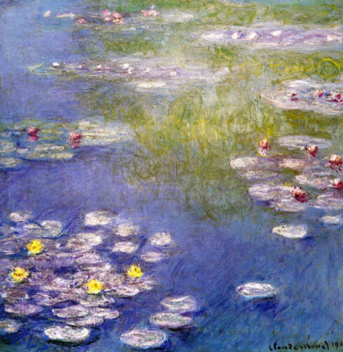 Nympheas at Giverny  by Claude Monet Giclee Fine Art Canvas Print