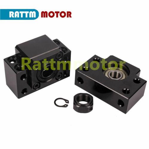 【DE】CNC SFU1605 Kugelumlaufspindel L1050mm End Machined+BKBF12+Nut+Nut Housing
