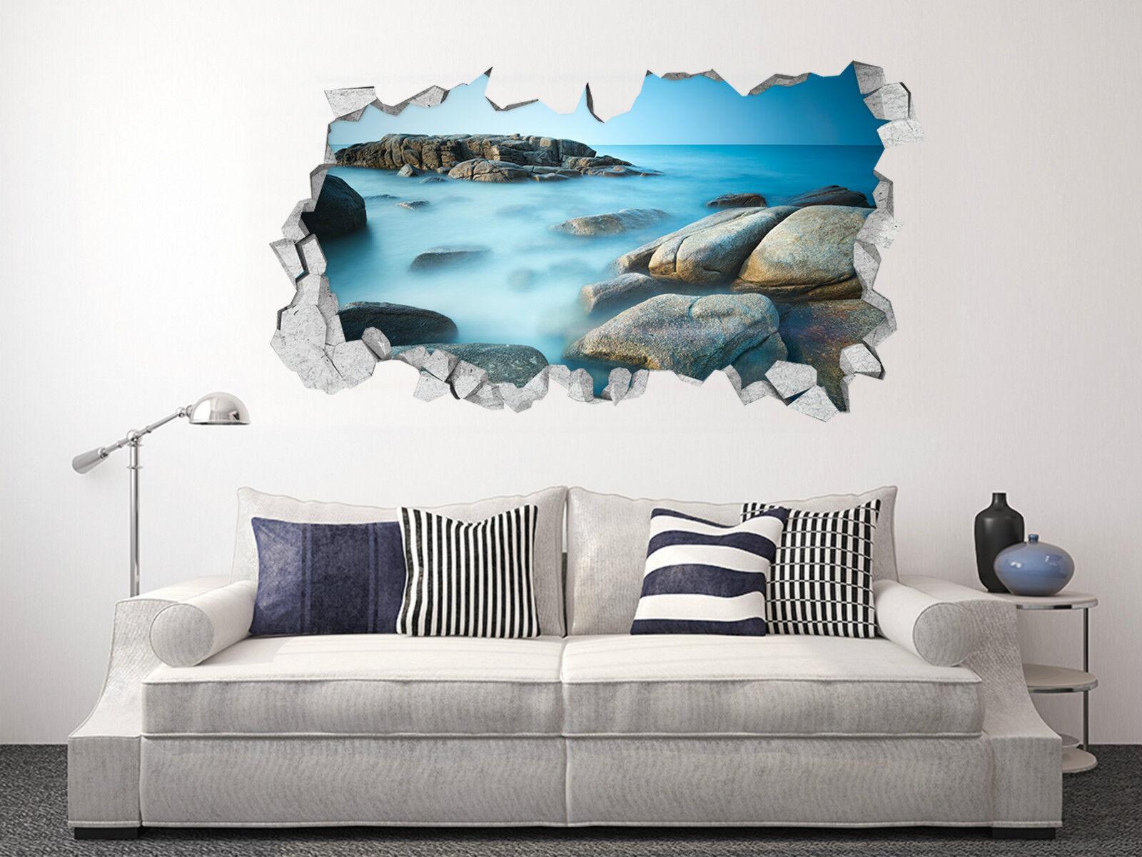 3D Seesteine 362 Mauer Murals Aufklebe Decal Durchbruch AJ WALLPAPER DE Lemon
