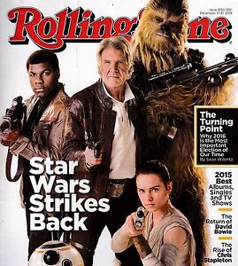 ROLLING STONE #1250/1251 DEC 17-31, 2015 STAR WARS DAVID BOWIE CHRIS STAPLETON