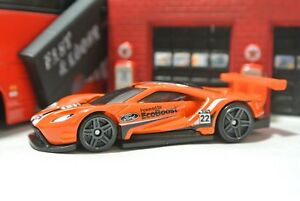 Image Is Loading Hot Wheels  Ford Gt Race Orange Loose