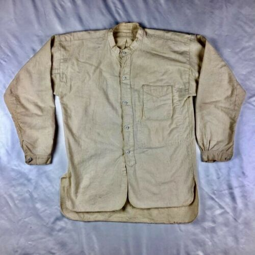 1900s 1910s Glass Button Japan Japanese Mens Shirt