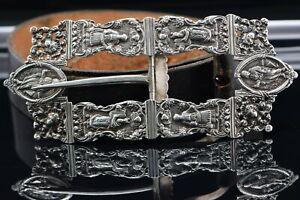Jewish Dutch Netherlands Rococo Silver Buckle Circa 1903Scenes of Yom Kippur