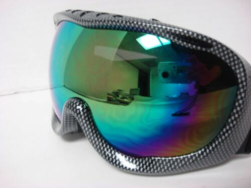 New Motocross Off-road Ski Snowboard Race Goggles CarbonFiber Color tinted
