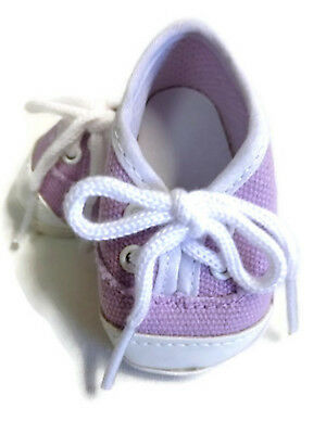 Lavender Canvas Slip On Shoes 18 in Doll Clothes Fits American Girl