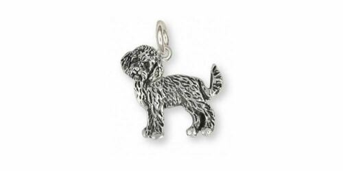Goldendoodle Charm Jewelry Sterling Silver Handmade Dog Charm GDL1-C