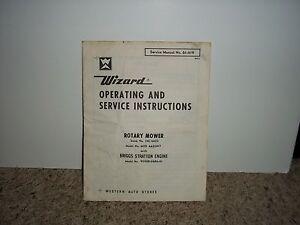 wizard rotary mower service manual 61 419 ebay rh ebay ie american hole wizard service manual Wizard Crystal Ball