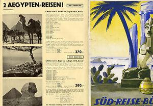 Muenchen-Sued-Reisebuero-Reklame-Prospekt-fuer-Venedig-Afrika-Sizilien-Reisen-1938