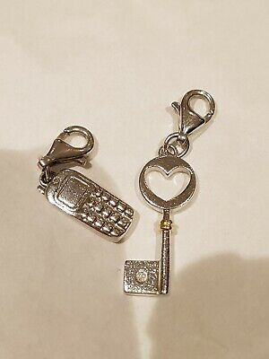 HOT DIAMONDS DT153 Guardian Angel Silver Diamond Set Clip on Charm
