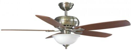LED Indoor Brushed Nickel Ceiling Fan Light Kit Remote Control ...