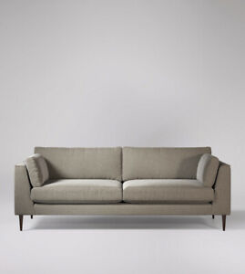 Swoon Nero Stylish Llama Beige Handcrafted Wool Four Seater Sofa - RRP £1499