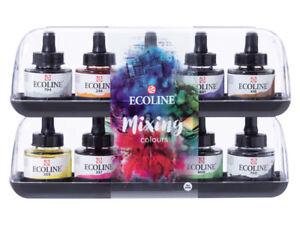 Talens-Ecoline-Watercolour-Ink-Set-10-x-30-ml-Dropper-Bottles