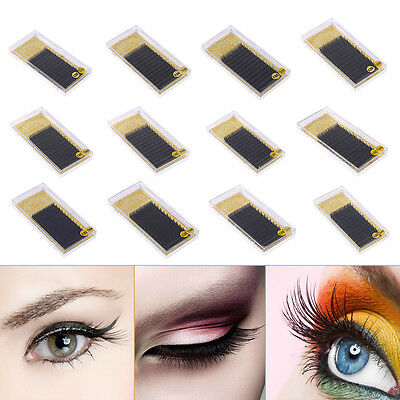 Pro 3D Volume Lash Individual Silk Eyelash Extensions Semi Permanent B C D Curl