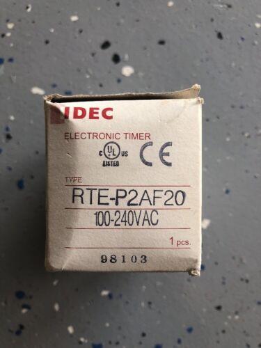 IDEC Relays RTE-P2AF20         IDEC ANALOG TIMER 120//240V