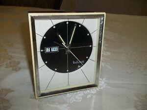 Bulova-51103-Vintage-Retro-Alarm-Clock-Tested-And-Works