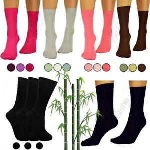 Ladies-Super-Soft-Gentle-3-6-12-Pairs-Pack-Size-4-7-Bamboo-Grip-Womens-Socks