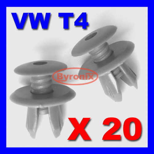 D GREY 20 X VOLKSWAGEN VW T4 T5 TRANSPORTER INTERIOR TRIM LINING PANEL CLIPS