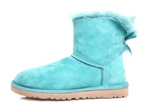 81d5faefa9a UGG Mini Bailey Bow Genuine Shearling Lined Boot Turquoise Girls Sz ...