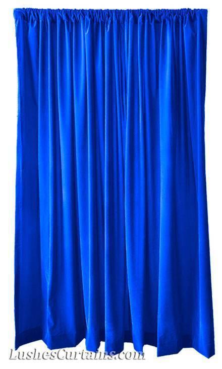 274cm H-solid Königsblau Samt Vorhang Drapierung Einzeln Lange Panel | Verschiedene Arten Und Die Styles