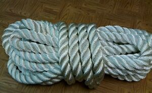 New 30 Feet of 1+3/8 inch (34mm) 100% nylon rope(TOW/ANCHO<wbr/>R/MORING/FITNE<wbr/>SS ROPE)