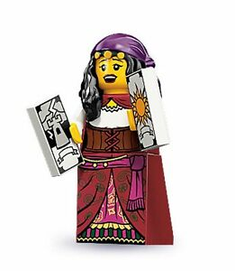 Lego-collectable-series-9-minifig-Gypsy-Fortune-Teller-with-tarot-cards-castle