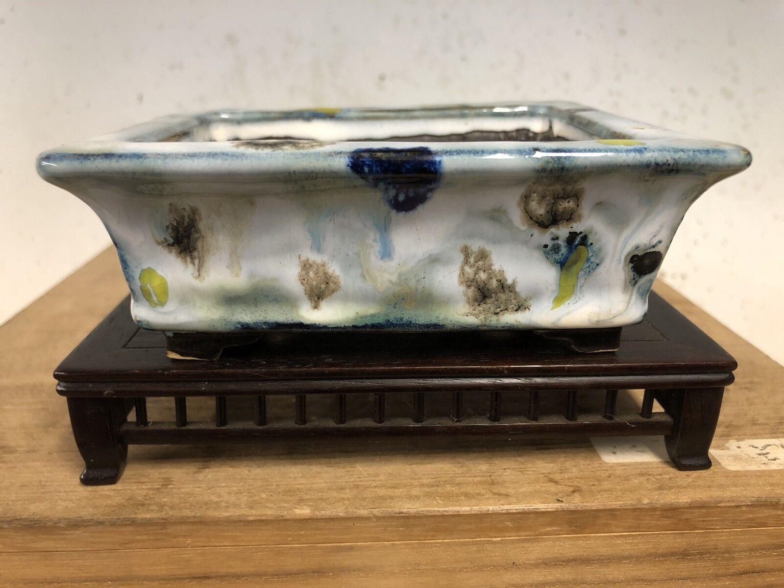 Tamaño único Esmaltado Shohin Árbol Bonsai Pot por fugushige bushuan 5 1 8