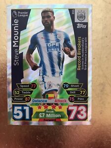 Match Attax Extra Season 1718 RB5 Steve Mounie Record Breakers - Sutton-in-Ashfield, United Kingdom - Match Attax Extra Season 1718 RB5 Steve Mounie Record Breakers - Sutton-in-Ashfield, United Kingdom