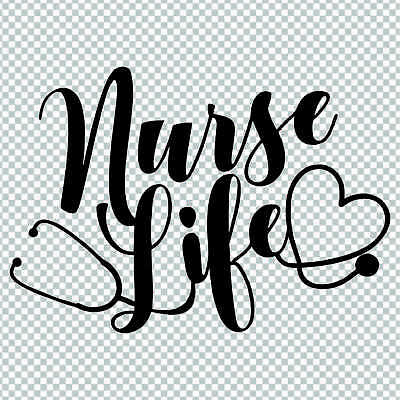 Nurse Life Rn Cna Quote Saying Vinyl Sticker Decal Laptop Cup Yeti Car Tumbler Ebay