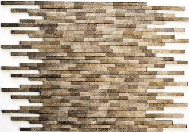Mosaik Aluminium Verbund gebürstet Colourot Dark Küche Art  49-L103D   10 Matten