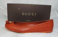 luxus GUCCI Gr 40 Logo Ballerinas Slipper Halbschuhe Schuhe Shoes  neu UVP 330 €