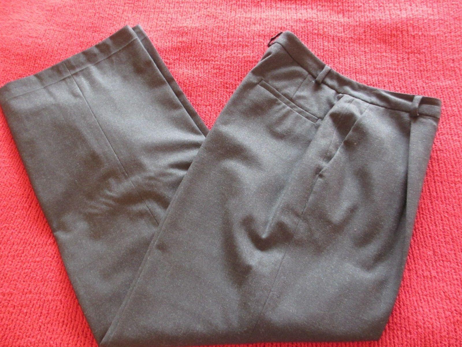 BROOKS BredHERS WOMEN'S DARK GREY PLEATED DRESS WOOL LYCRA PANTS SIZE 8