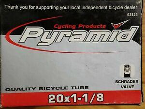 SUNLITE STANDARD  20 x 1-1//8  SCHRADER VALVE BICYCLE TUBE