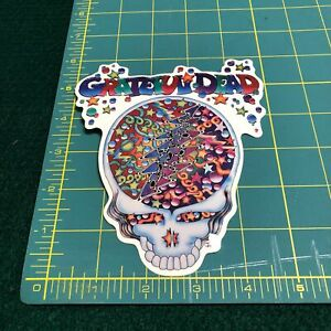 NEW-Vintage-Grateful-Dead-Steal-Your-Face-Confetti-1998-Window-Sticker-Decal