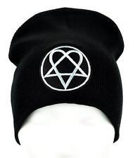 HIM Heartagram Beanie Occult Clothing Knit Cap Ville Valo Gloom Love Metal Goth