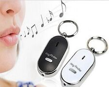 WHISTLE KEY FINDER WHITE  FLASHING BEEPING REMOTE FIND LOST KEYRING KEY LOCATOR