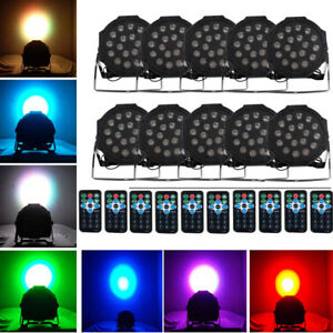 10-X-18-LED-RGB-DMX-Light-PAR-CAN-DJ-Stage-Lighting-for-Wedding-Party-Uplighting