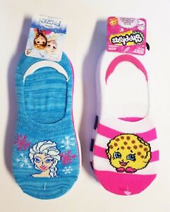c79a5f0fbfb Shopkins and Frozen Liner socks  2 PACK  8 PAIR TOTAL SHOE SIZE 7 1 ...
