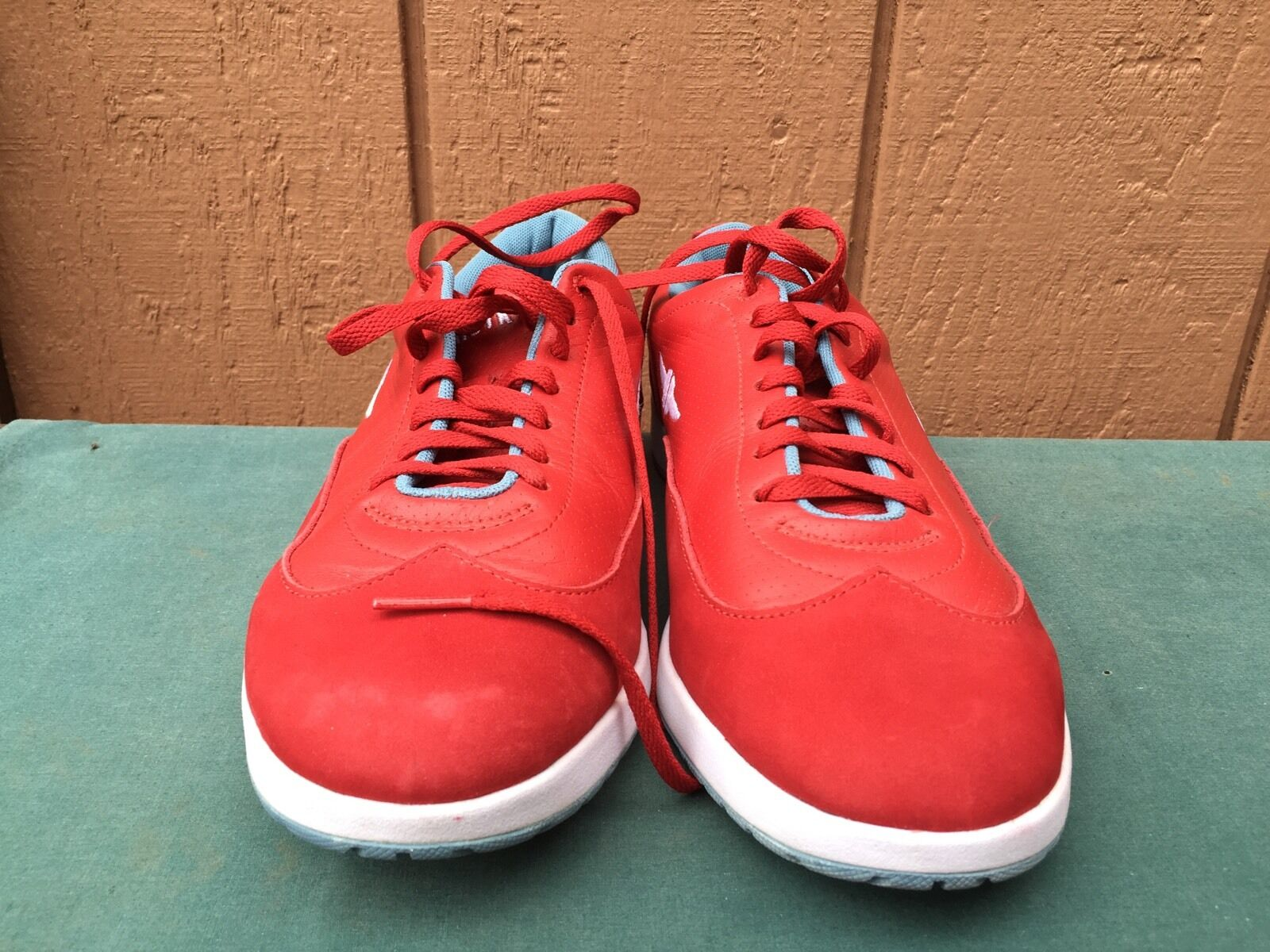 RARE WOMEN'S HEROYK SHOES RED LEATHER RUNNING SNEAKERS US SIZE 8